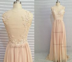 Champagne lace wedding dress Champagne lace prom von Loveand520
