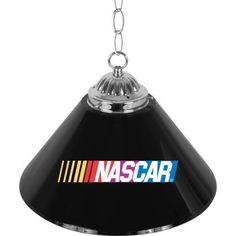 NASCAR Pub Table Light Single Shade - 14 Inch by Trademark. $85.57. NASCARR is a registered trademark of the National Association for Stock Car Auto Racing, Inc.Illuminate your game room, garage or collection with an officially licensed NASCAR 14 inch Single Shade Bar Lamp. This premium lighting fixture looks great on or off with officially licensed logos on both sides of the polyresin shade. The shade is accented by polished metal hardware and chain. Over nine feet of cord provi...