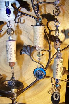 @Alison Hollis  Basically, stick a wire through a wine cork and add things to it.