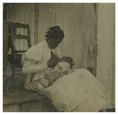 Rare breast feeding stereoview image 1898.