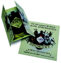 Edward Snell and Co, one of South Africa's leading marketers of International and South African liquor brands, has again selected a PocketMedia® Solutions' Unidentified Folding Object (UFO), a unique folding cardboard marketing solution, to promote its Hendrick's Gin and drive consumers to its social media websites.