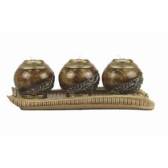 DD D'Lusso Designs Monique Collection Four Piece Tray with Three Orb Set
