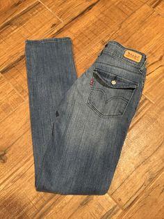 Levi's Women's Size 4 Medium (27x31) Mid Rise Skinny Flap Pockets Soft Denim #Levis #MidRiseSkinnyFlapPocket