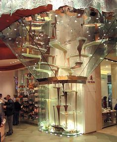 chocolate fountain at the Bellagio hotel in Las Vegas.  I've been here.  It's awesome.
