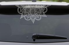 Half Mandala for Windshield beautiful Large Vinyl Decal for Car/wall/windows