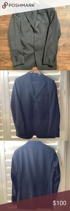 Size EUR 42 UK 32 Leg 34 Mens Black Zara Trousers Formal// Suit// Office Work