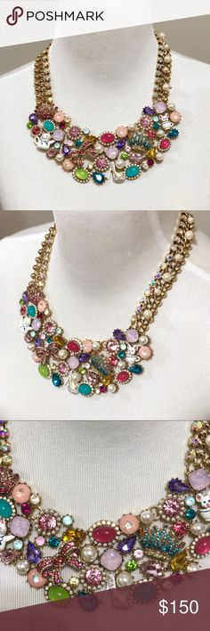 """Betsey Johnson Vintage Statement Necklace Betsey Johnson Vintage Statement Necklace Length: 17"""" + 3"""" extender  Drop: 2"""" Closure: Lobster Clasp Material: Gold Tone mixed metal  Brand new with tags -Authentic  Retails for $225+TAX ————————————————— ❌NO TRADING  🥇POSH AMBASSADOR  📦FAST SHIPPER 🔝 RATED SELLER  🔝10% SELLER🏆 🛍 BOUTIQUE CERTIFIED  💌TAKE A LOOK AT MY FEEDBACK Betsey Johnson Jewelry Necklaces"""