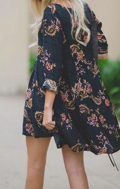 Boho chic dress.
