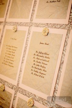 Beautiful & vintage escort cards for your #wedding! | Holland Photo Arts