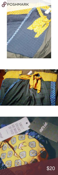 Aerie Pants BRAND NEW BRAND NEW/ ALL TAGS ATTACHED/  *CURRENT AERIE FLOOR ITEM!*  Silky silky silky!!! i cant say that enough. Have my own pair and my description would be soo comfortable sleep or lounge pants (yes i wear them out of the house! Lol) My favorite thing about these is the way they hug my ass, gives it such a nice shape and they truely are so silky its like theyre irresistible to touch. Tight fitting but extremely strechy waist, flare leg and bottom, adorable removable belt…