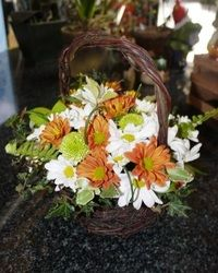 Cherry Blossom Decor & Hire. Wedding flower baskets and containers in wood.