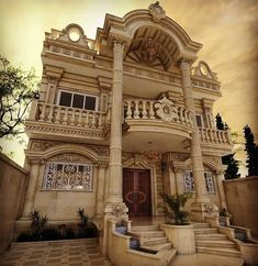 homedecor architecture luxury luxuryhomes beautiful rich is part of House design - Classic House Exterior, Classic House Design, Modern Villa Design, House Front Design, Dream Home Design, Casas California, Exterior Design, Facade Design, Design Design