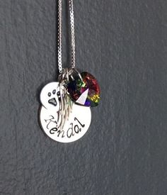 Personalized Rainbow Bridge Pet Loss Necklace by KristiKayDesigns