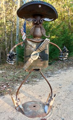 Jason Morris Creations #metal art #Scrap yard #yard art #repurposed