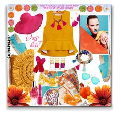 """""""Summer Brights. ☀"""" by thedistinctiveme ❤ liked on Polyvore featuring Marni, Trina Turk, BaubleBar, Rampage, Mar y Sol, Michael Kors, ESCADA, Victoria Beckham, Lanvin and summerbrights"""