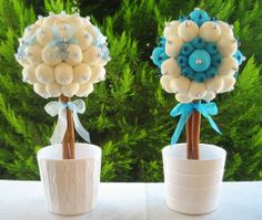 Marshmallow and candy topiaries