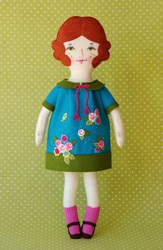 PDF Doll Pattern Wool Felt Doll Art Doll Wool by LolliAndGrace
