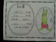 We had lots of fun reading different versions of The Three Billy Goats Gruff. It's about the three goat brothers brave the terrible troll in a colorful Talk 4 Writing, Writing Area, Traditional Tales, Traditional Stories, Traditional Literature, Fairy Tale Activities, Literacy Activities, Billy Goats Gruff Story, Fairy Tale Projects