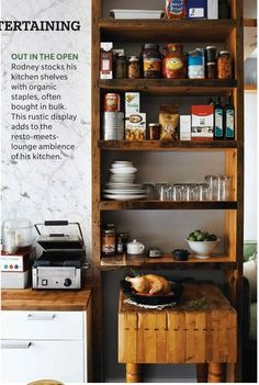 IDEA: pantry nook for between stove and refrigerator