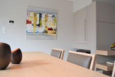 abstracte schilderijen Abstract Paintings, Conference Room, Table, Furniture, Home Decor, Decoration Home, Room Decor, Meeting Rooms, Tables
