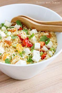 Sinaasappel couscous salade met feta