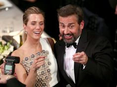 Pin for Later: 76 Moments From the SAG Awards That You Probably, Definitely Missed  Pictured: Steve Carell, Kristen Wiig