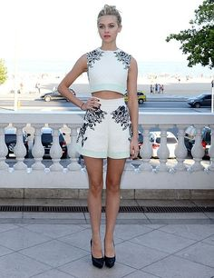 Nicola Peltz in a Balenciaga short set