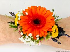 Bright Corsage for Autumn Wedding at Racquet Club Liverpool Autumn Wedding, Our Wedding, Wedding Venues, Wedding Corsages, Vera Wang Wedding, Wrist Corsage, Flower Delivery, Bridesmaid Bouquet, Mother Of The Bride