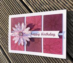 … zum Geburtstag :-) Sommerbeere, Himbeerrot, Stempel: We Musst Celebrate, G… - Geburtstagskarte Diy Ideas Scrapbook, Wedding Scrapbook, Scrapbook Cards, Scrapbooking, Tarjetas Stampin Up, Stampin Up Cards, Cute Cards, Diy Cards, Wink Of Stella