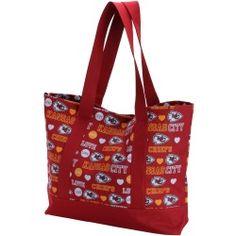 Kansas City Chiefs Women's Love Print Tote Bag