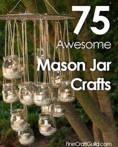 75 of the BEST Mason jar crafts :: FineCraftguild.com