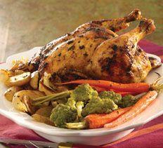 Garlic Butter Roast Chicken and Vegetables