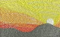 BFC-Creations Machine Embroidery Stained Glass Sunset and Free Design