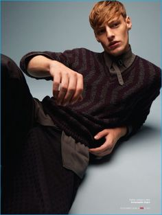 Starring in a fall fashion editorial for GQ Brasil, Roberto Sipos layers in pieces from Ermenegildo Zegna.