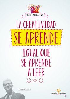Sir Ken Robinson | La creatividad se aprende igual que se aprende a leer #escuelacreativa @ecatolicas @pepe montalva
