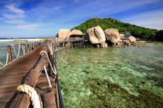 Nangyuan Island, Near Koh Tao, and stay in one of the most unique places on earth. Three islands of astounding beauty awaits you.  #Ko Tao