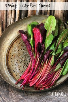 Did you know that beet greens are edible? Sure, your chickens love 'em, but your family might, too!