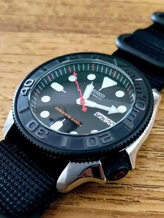 Seiko Skx007 Mod, Seiko Mod, Cool Watches, Watches For Men, Camera Watch, Black Boys, Coffee, Accessories, Men Watch