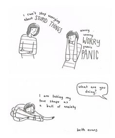 Our weird ways of coping. | 24 Comics That Capture The Frustration Of Anxiety Disorders