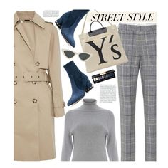 Street Style:Plaid by beebeely-look on Polyvore featuring 525 America, STELLA McCARTNEY, Etro, Valentino, Y's by Yohji Yamamoto, Le Specs, Yves Saint Laurent, StreetStyle, NYFW and plaid