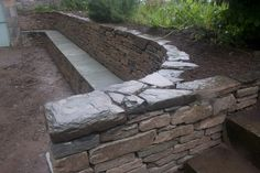 retaining wall seating   wall ornamental dry stone features retaining walls and terraces seats ...