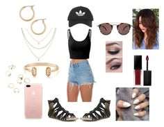 """""""Summer Park With The Girls"""" by roxy-crushlings ❤ liked on Polyvore featuring Wrangler, Doublju, Mark & Maddux, Oliver Peoples, Topshop, Smashbox, Nordstrom and Kendra Scott"""