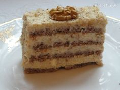 Orechové rezy bez múky (fotorecept) - Recept Dairy Free Recipes, Gluten Free, Vanilla Cake, Free Food, Tiramisu, Cheesecake, Cupcake, Sweets, Baking