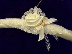 Wedding dress padded satin hanger with vintage by BowTweetBabies