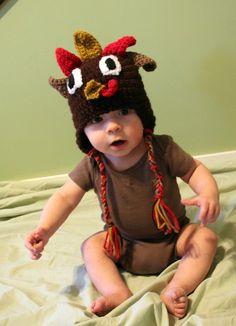 Turkey Toddler or Baby Hat by makinitmama on Etsy, $22.00