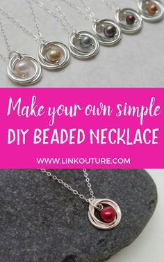 Super chic and feminine pearl necklace DIY tutorial - Learn how to make your ve. Super chic and feminine pearl necklace DIY tutorial - Learn how to make your very own pearl and spiral pendant necklace with this easy diy jewelry tutori - Diy Diy Jewelry Rings, Diy Jewelry Unique, Diy Jewelry To Sell, Diy Jewelry Tutorials, Diy Jewelry Making, Beaded Jewelry, Beaded Necklaces, Wire Jewelry, Handmade Necklaces