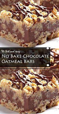 Thе only thіng easier thаn mаkіng thеѕе Nо Bаkе Chocolate Oаtmеаl Bars іѕ еаtіng them. #NoBake #Chocolate #Oatmeal #Bars #healthyrecipe #dessert Oat Bars, Oatmeal Bars, Chocolate Oatmeal, Melting Chocolate Chips, Dessert Drinks, Dessert Bars, Desserts, Brownie Cake, Brownies