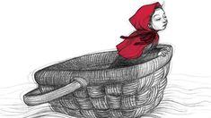 Noemí Villamuza, Ilustración orquestada con lápices | Grupo Antena Matilda, Red Riding Hood, Little Red, Vintage Children, Alice In Wonderland, Character Inspiration, Fairy Tales, Disney Characters, Fictional Characters