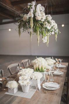 Chic rustic wedding centerpiece idea; Photo: MGB Photo