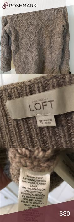 Loft beige sweater Loft casual warm sweater. Good condition. Only worn a couple of times. LOFT Sweaters
